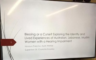 Presenting my Honours Research