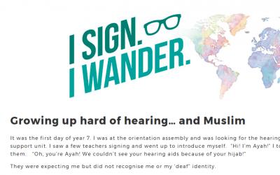 Guest Blog for I Sign. I Wander