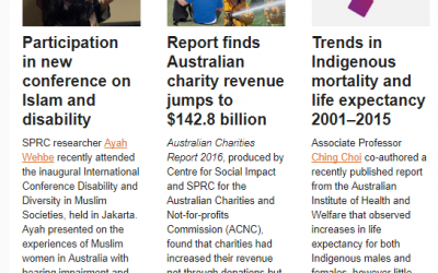 Social Policy Research Centre Highlights