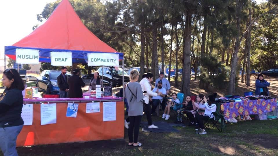 Muslim Deaf Community Stall at Eid Festival